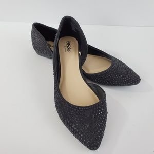 Mossimo D'Orsay Sparkle Jeweled Pointed Toe Flat